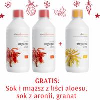 Zestaw 2xAloe arborescens - Przepis Mnicha + Sok i miąższ z liści aloesu, sok z aronii, granat GRATIS