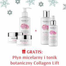 Zestaw Kolagen Krem na dzień, Krem na noc, Balsam do mycia i demakijażu twarzy + Płyn micelarny, Tonik botaniczny 3+2 GRATIS