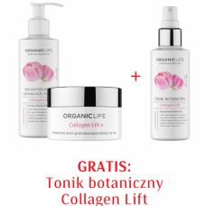 Zestaw Kolagen Balsam do mycia i demakijażu twarzy, Krem na noc + Tonik botaniczny 2+1 GRATIS
