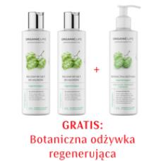 Zestaw 2xBalsam myjący do włosów regenerujący, Odżywka regenerująca 2+1 GRATIS