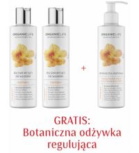 Zestaw 2xBalsam myjący do włosów regulujący, Odżywka regulujaca 2+1 GRATIS