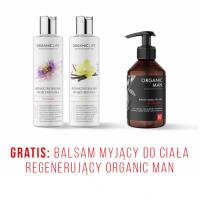 Zestaw balsamy myjące marakuja, wanilia + Balsam myjący do ciała Organic Man GRATIS