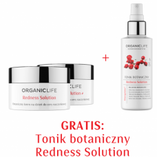 Zestaw Cera naczynkowa - Krem na dzień, Krem na noc + Tonik botaniczny GRATIS