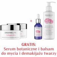 Zestaw przeciwzmarszczkowy 2xKrem na noc + Serum w płynie, Balsam do mycia i demakijażu twarzy 2+2 GRATIS