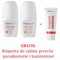Zestaw Dezodorant bezzapachowy, grejpfrut + Biopasta do zębów 2+1 GRATIS