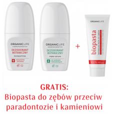 Zestaw Dezodorant bezzapachowy, mięta + Biopasta do zębów 2+1 GRATIS