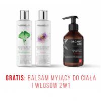 Zestaw Balsamy myjące Miłorząb, Marakuja + Balsam myjący do ciała i włosów 2w1 GRATIS