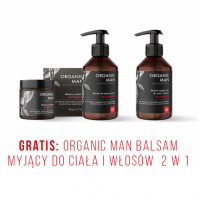 Zestaw męski Balsam po goleniu, Balsam do mycia twarzy + Balsam myjący do ciała i włosów  2w1 GRATIS