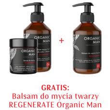 Zestaw męski Serum do twarzy, Balsam myjący do ciała i włosów 2w1, Balsam do mycia twarzy 2+1 GRATIS