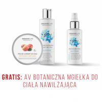 Zestaw Peeling cukrowy, AV Botaniczny balsam myjący do ciała + AV mgiełka do ciała GRATIS