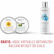 Zestaw Peeling solny do ciała , Peeling solny do stóp + Botaniczny balsam myjący do ciała AV GRATIS