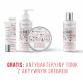 Zestaw przeciwtrądzikowy Żel punktowy, Żel do mycia twarzy, Peeling enzymatyczny + Tonik z aktywnym srebrem GRATIS