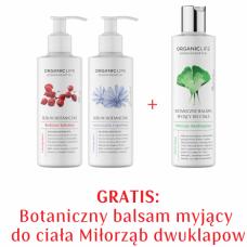 Zestaw Serum do ciała wyszczupla i ujędrnia, Serum do ciała skóra naczynkowa + Balsam myjący Miłorząb GRATIS