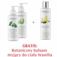 Zestaw Serum botaniczne przeciw rozstępom, cellulitowi + Balsam myjący wanilia  2+1 GRATIS