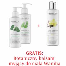 Zestaw Serum botaniczne przeciw rozstępom, cellulitowi + Balsam myjący wanilia GRATIS