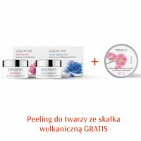 Zestaw Serum nr 1 Odmłodzenie, Serum nr 3 Regeneracja + Peeling ze skałką 2+1 GRATIS