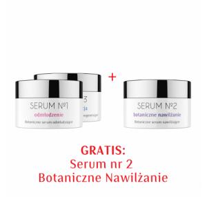 Zestaw Serum nr 1 Odmłodzenie, Serum nr 3 Regeneracja + Serum nr 2 Nawilżenie GRATIS