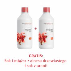 Zestaw 2xSok i miąższ z aloesu drzewiastego i sok z aronii 1+1 GRATIS